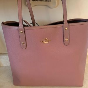 Coach reversible tote bag and wallet
